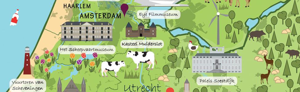 Illustratieve kaart Nederland