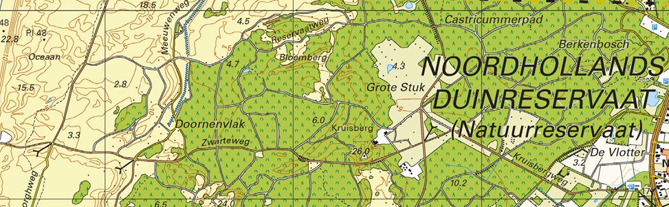 Detailbeeld atlas, schaal 1:25.000