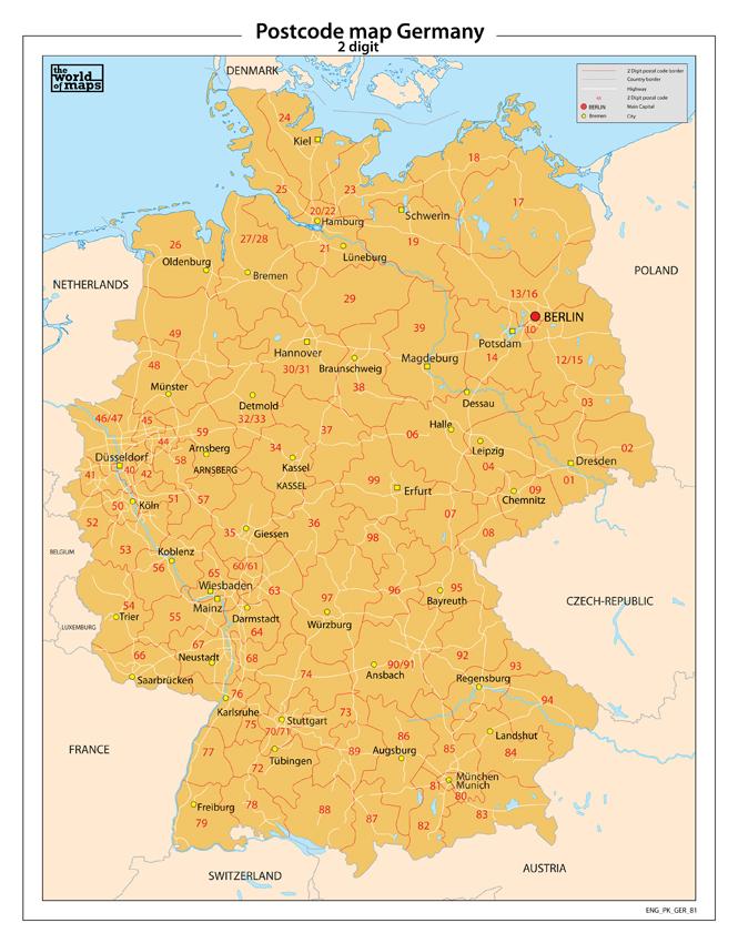 Postal Code Deutschland