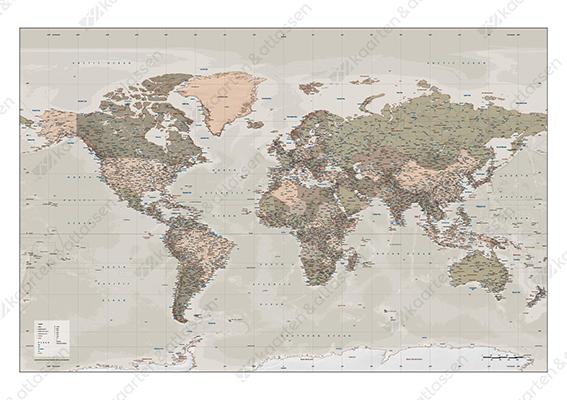 Nostalgische wereldkaart