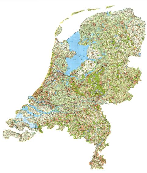 Grote Nederland kaart