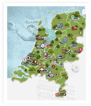 Voetbalkaart van Nederland