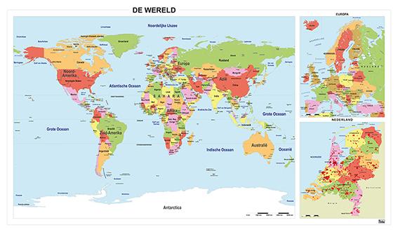 Combikaart Wereld