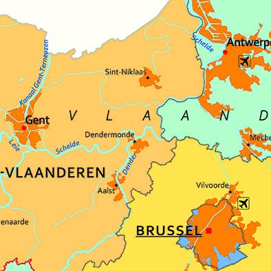 Schoolkaart België detail