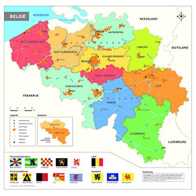 België schoolkaart
