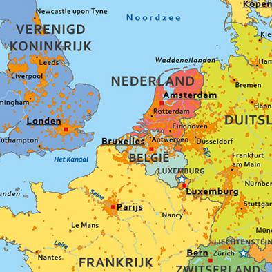 Europa schoolkaart detail