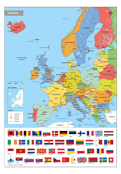 Schoolkaart Europa