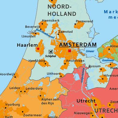 Nederland schoolkaart detail