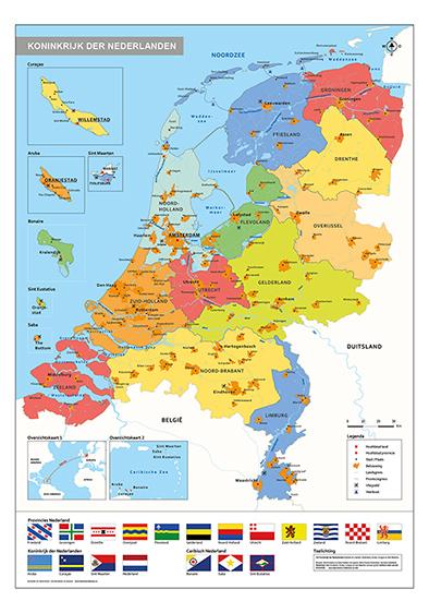 Nederland schoolkaart