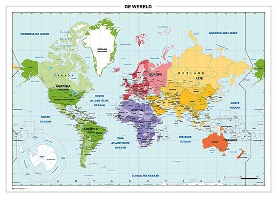 Wereldkaart School