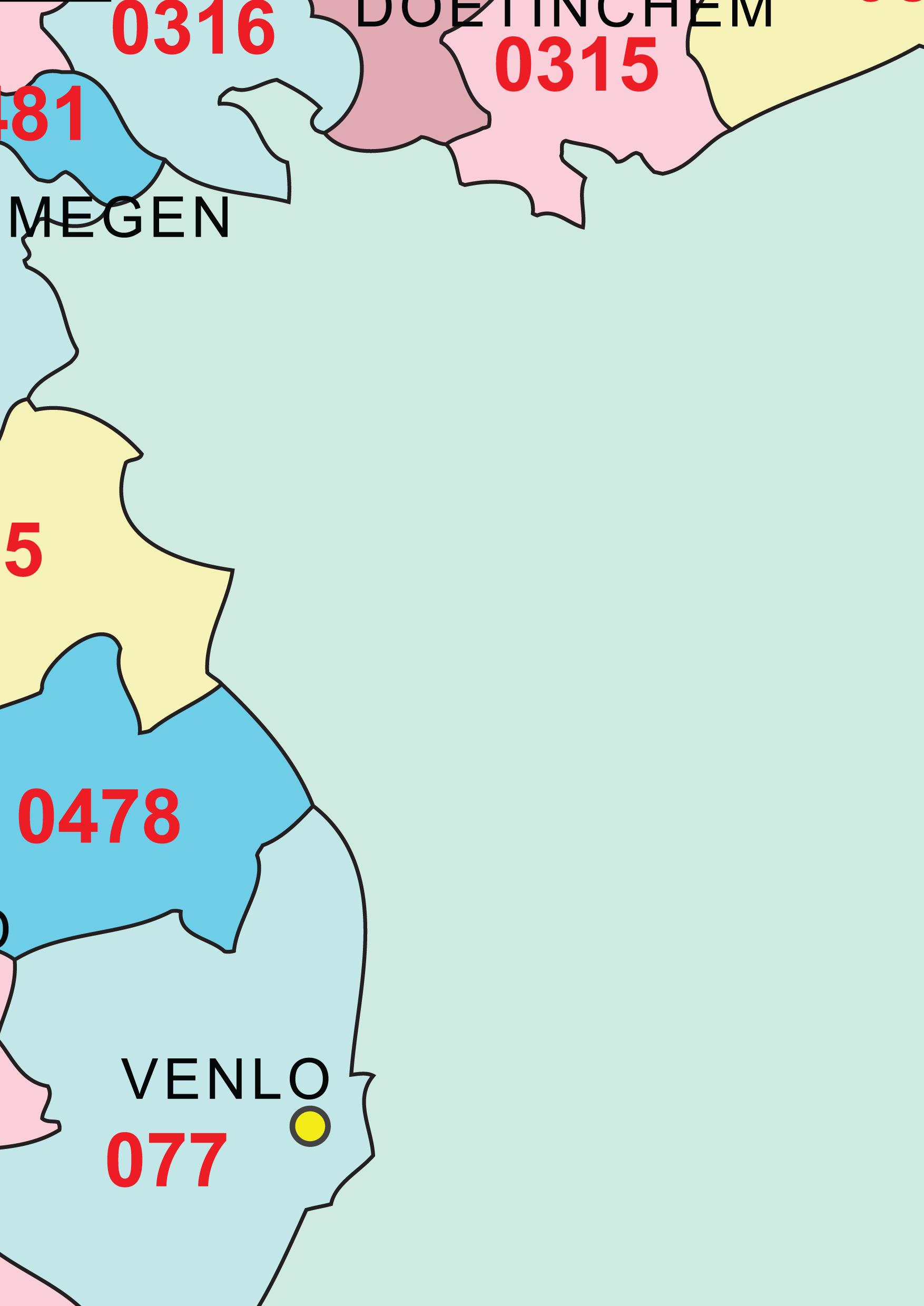 Netnummers landen