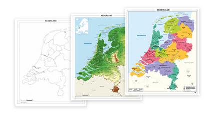 Schoolkaarten Nederland