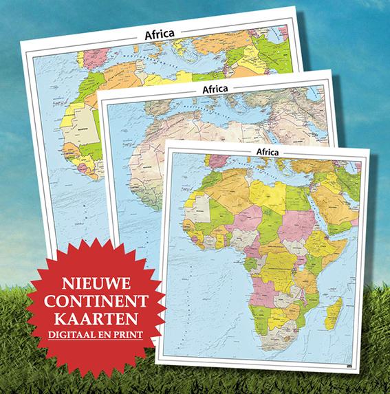 Nieuwe continentkaarten