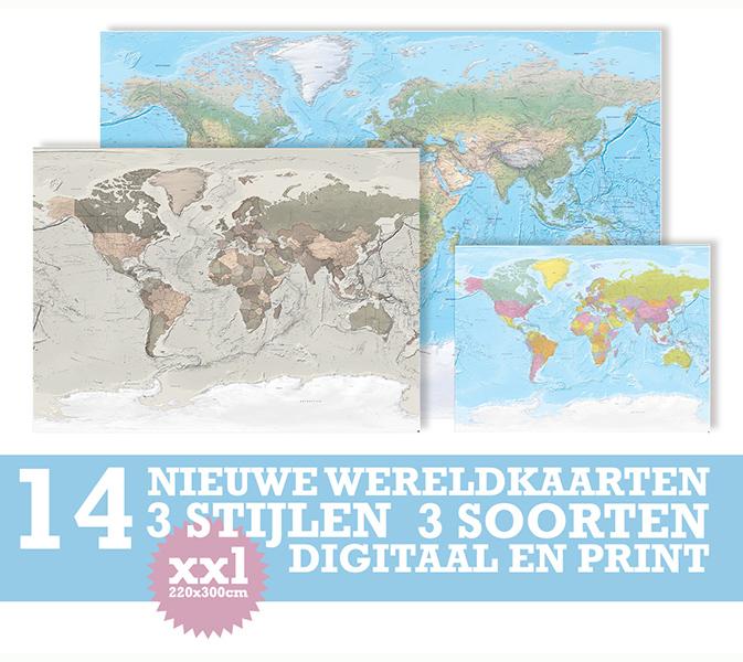 XXL Wereldkaarten