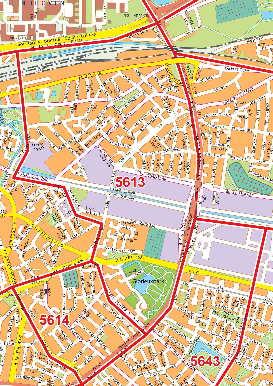Digitale postcodekaart eindhoven 102 kaarten en for Ppc eindhoven