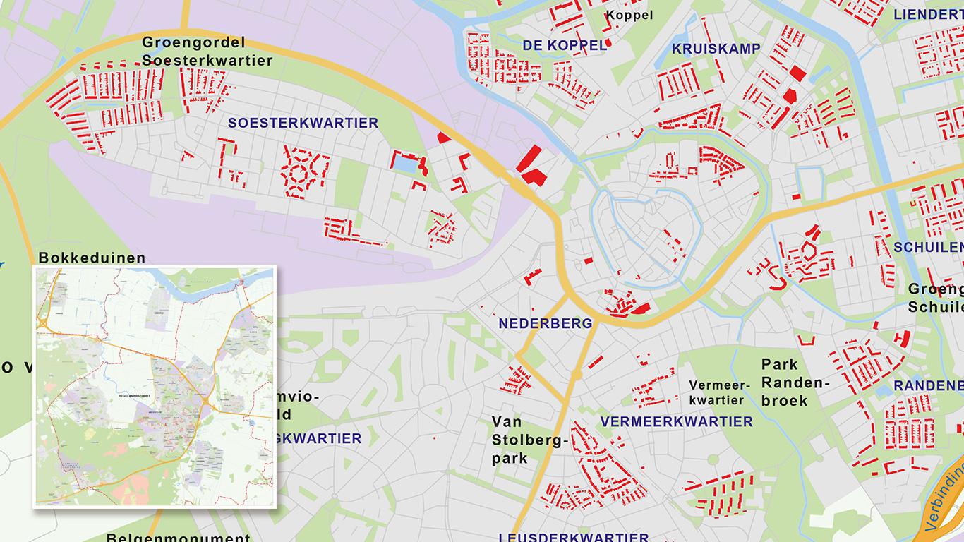 Overzichtskaart Alliantie met vastgoedgebieden