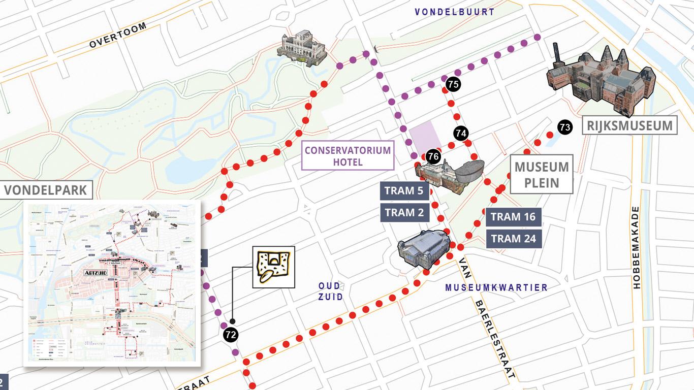 ArtZuid Routekaart