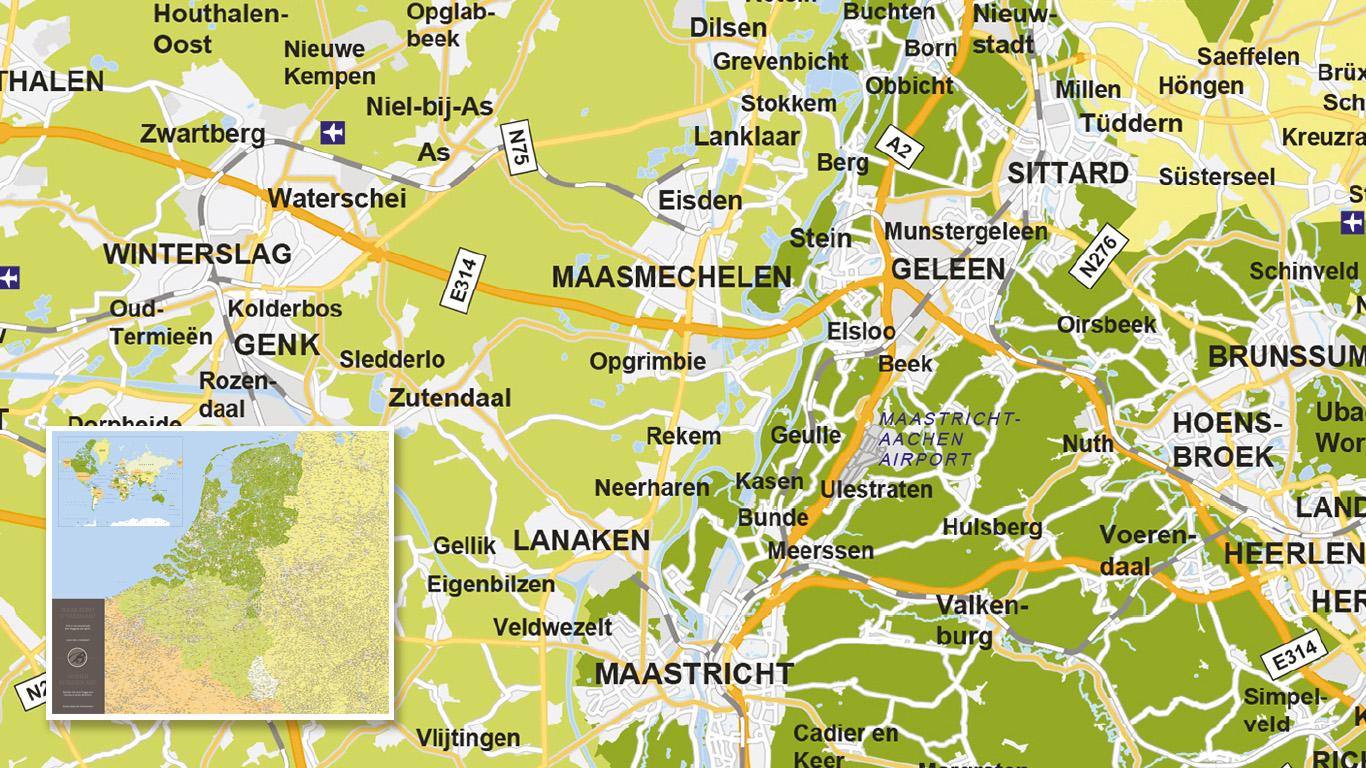 Overzichtskaart voor Badhotel Domburg
