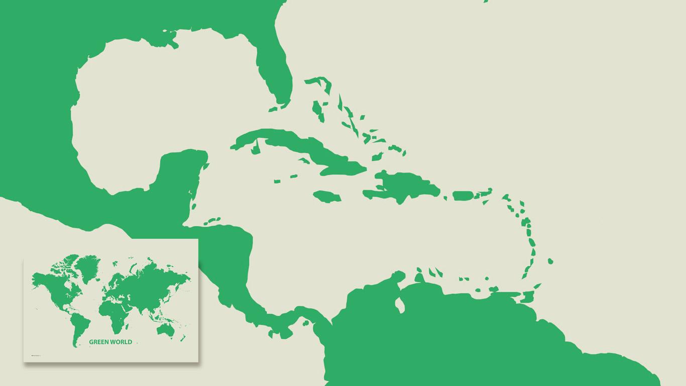 Wereldkaart Green World
