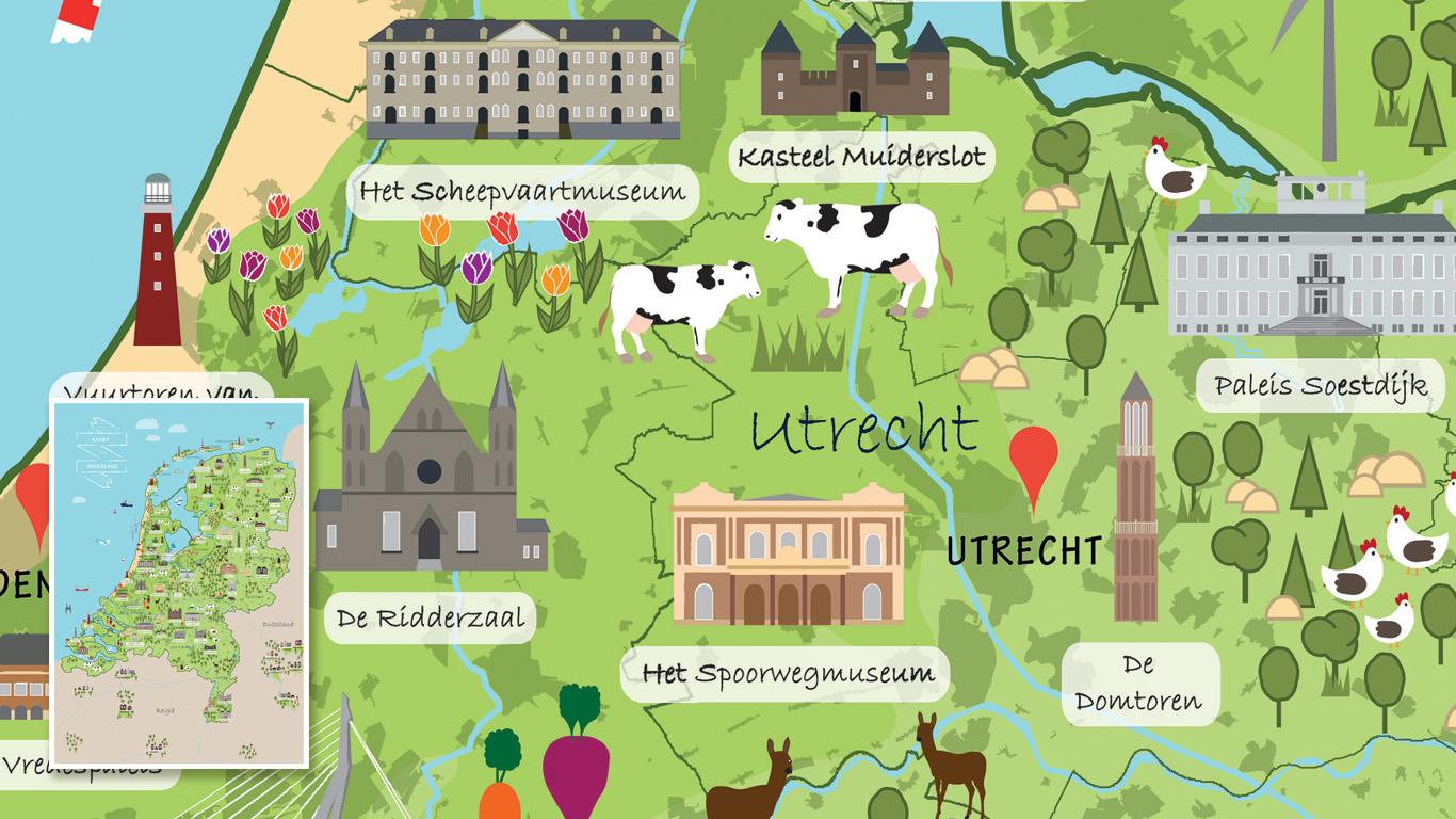 Kinderkaart Nederland