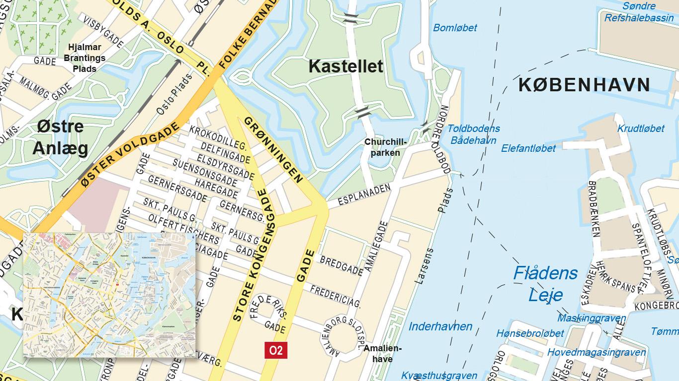 Stadsplattegrond Kopenhagen