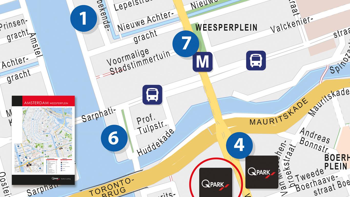 Q-Park Stadsplattegrond Amsterdam