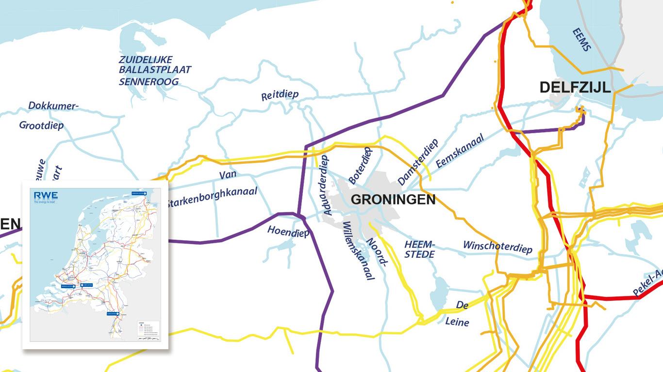 Energiekaart Nederland voor RWE