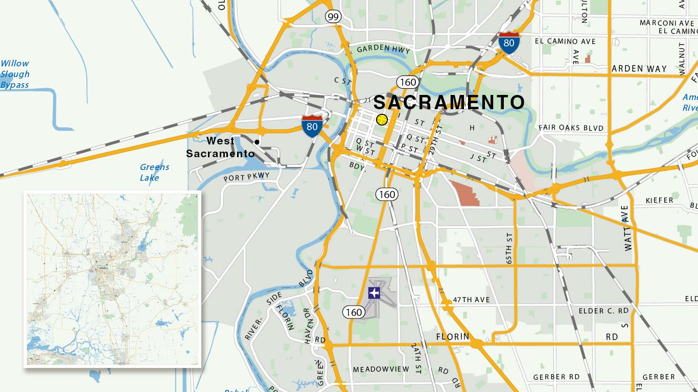Stadsplattegrond Sacramento