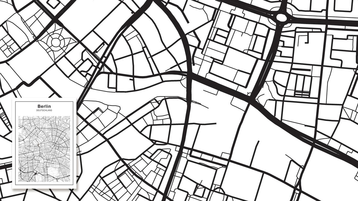 Kaart Amsterdam met stratenplan