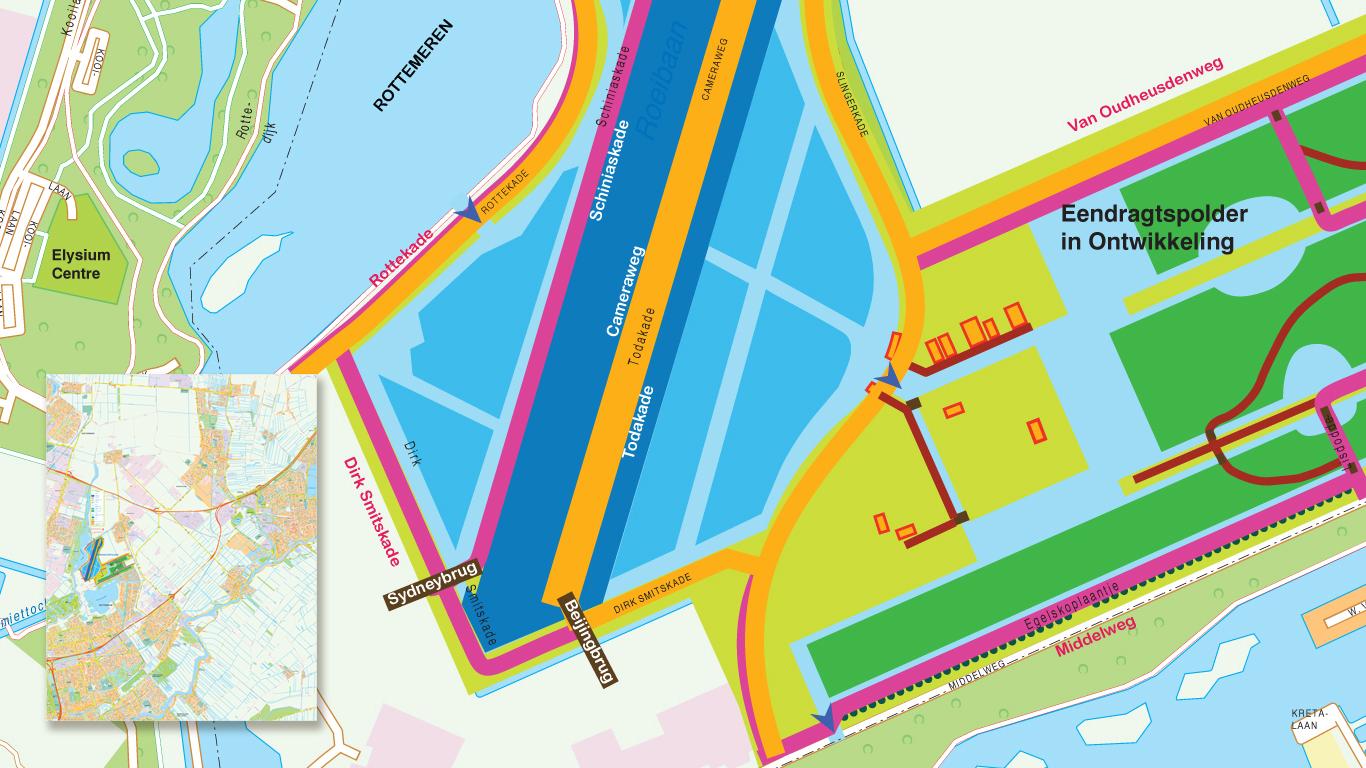 Overzichtskaart gemeente Zuidplas
