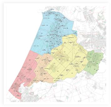 Rayonkaart Zuid-Holland