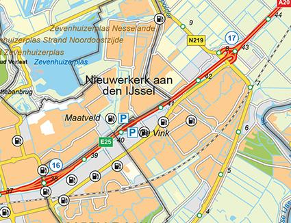 Kaart Zuid-Holland Rijkswaterstaat
