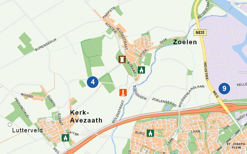 Kaart op Maat Rivierenland Punten