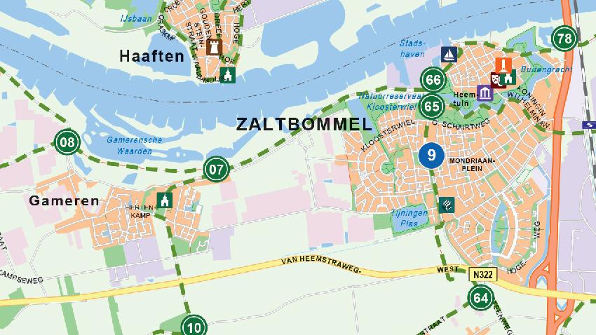 Kaart op Maat Rivierenland detail