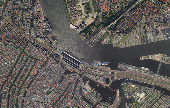 Luchtfoto centraal Station- Eye