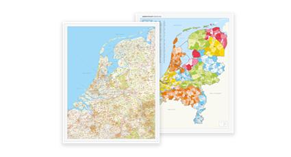 Magnetische Whiteboard Beneluxkaarten