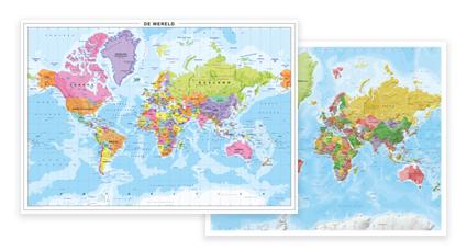 Magnetisch Whiteboard Wereldkaart