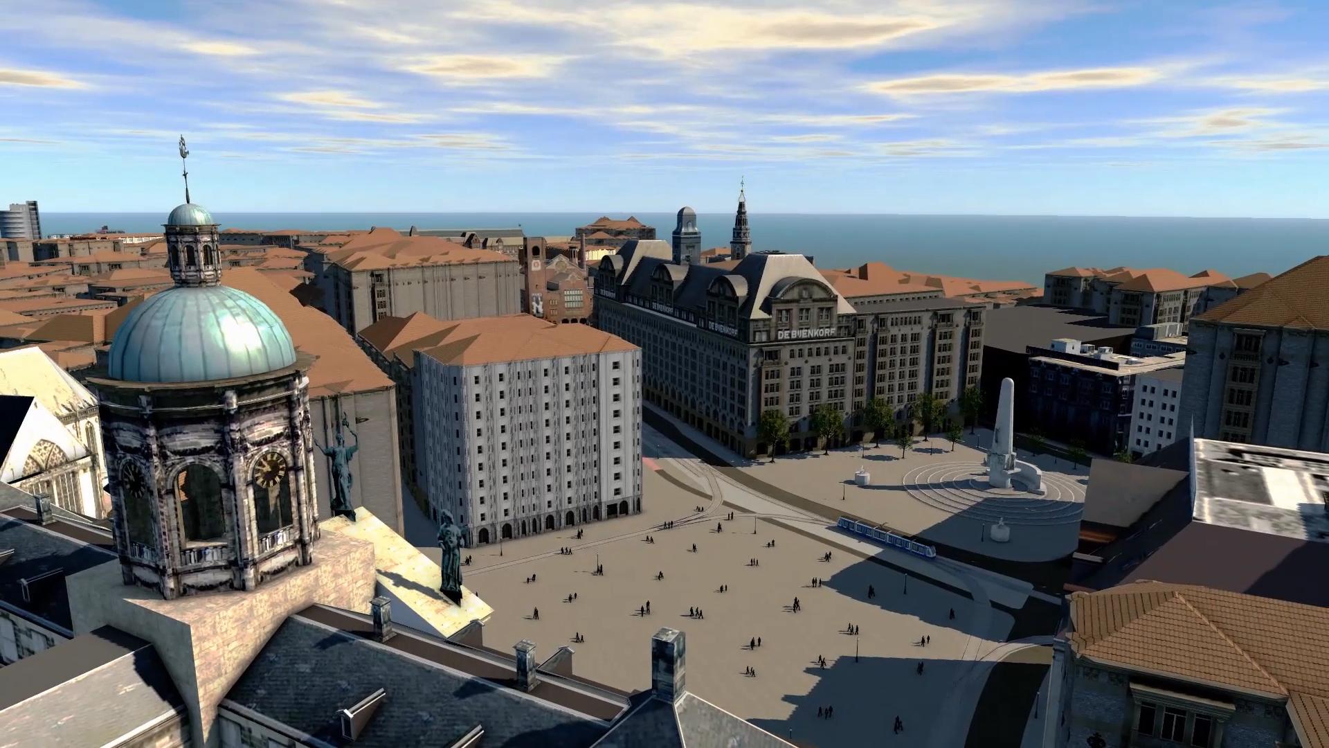 Hyperrealistische weergave van de Dam Amsterdam