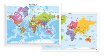 Schoolkaarten Wereld