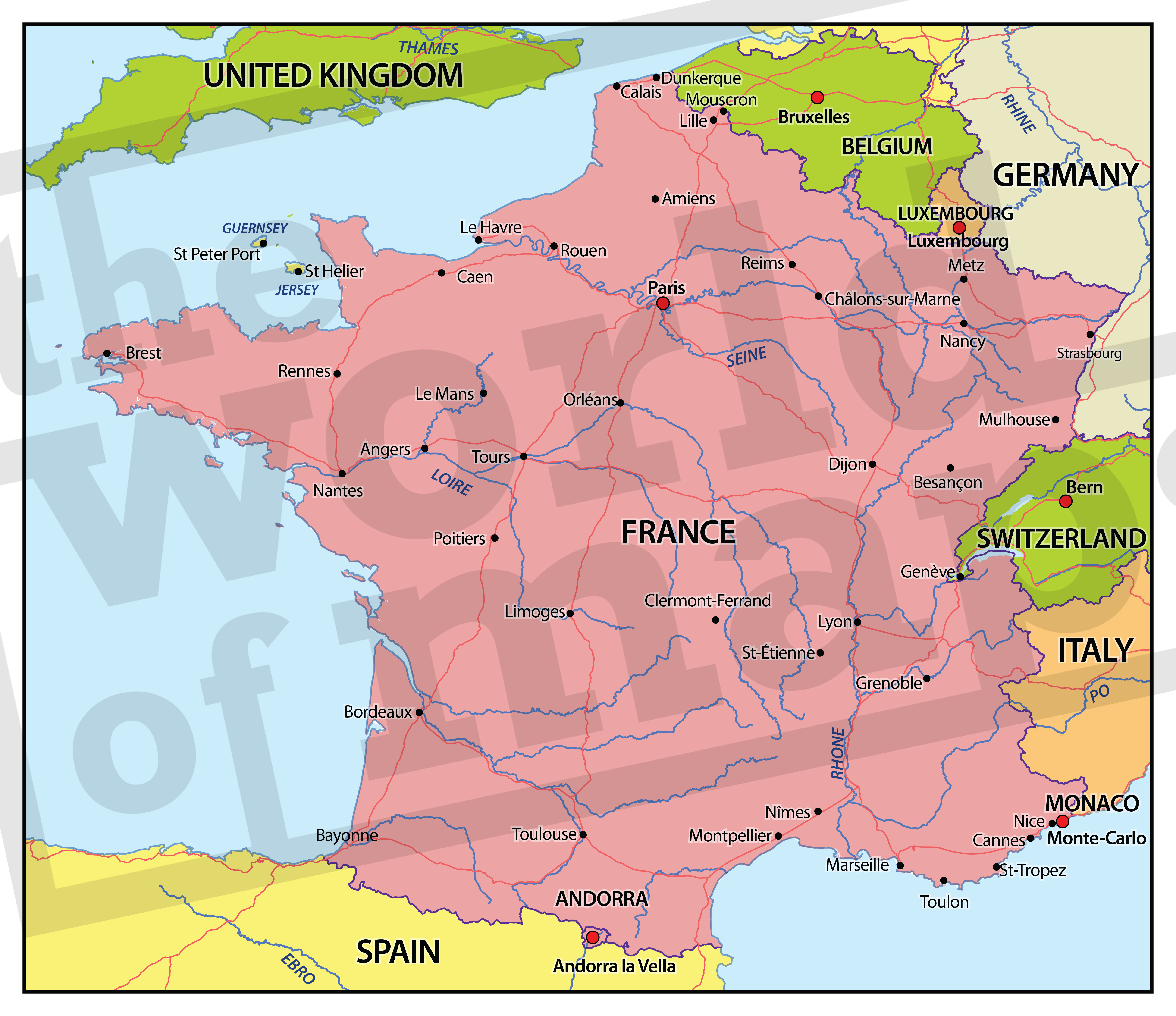Digitale kaart Frankrijk 663 | Kaarten en Atlassen.nl