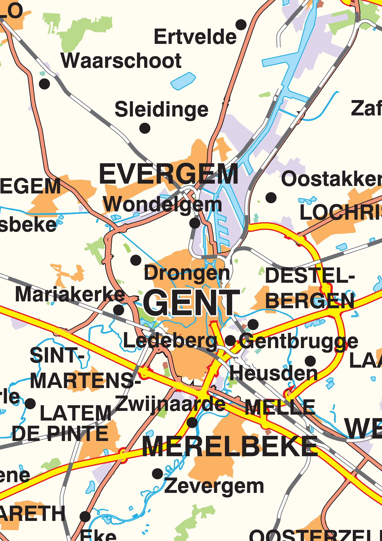 Oost Vlaanderen Kaart Kaart Oost-vlaanderen 359