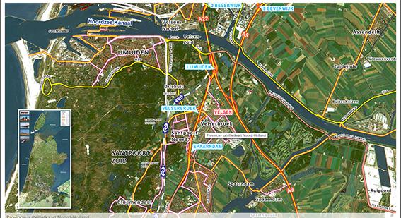 luchtfoto met kaartmateriaal