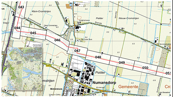 Pijpleiding in Topografische kaart