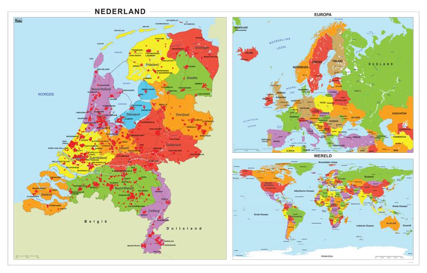 Schoolkaart nederland europa wereld 298 kaarten en - De thuisbasis van de wereld chesterfield ...