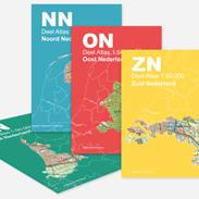 Vierdelige serie atlassen van Nederland