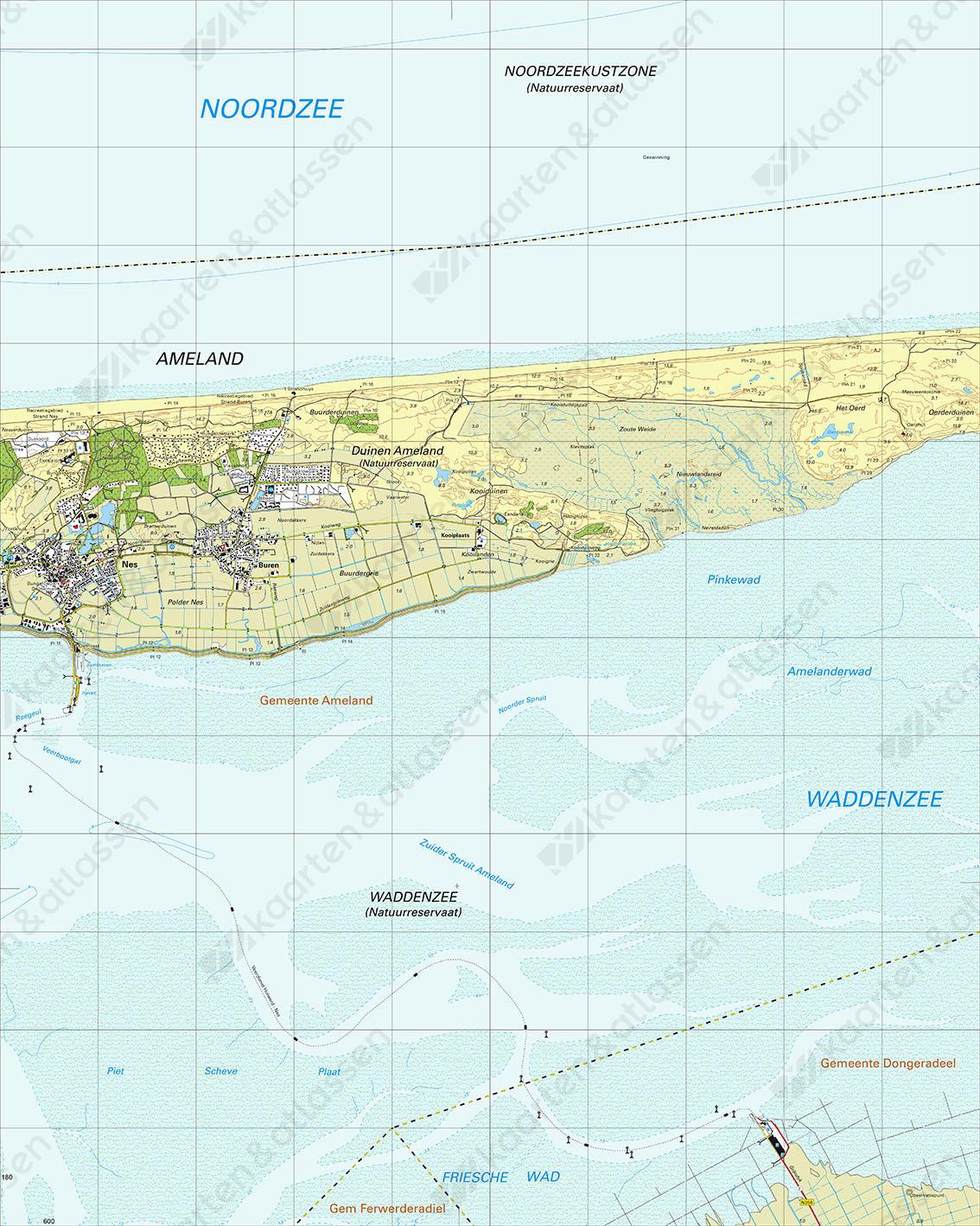 Digitale Topografische Kaart 2C Midden Ameland