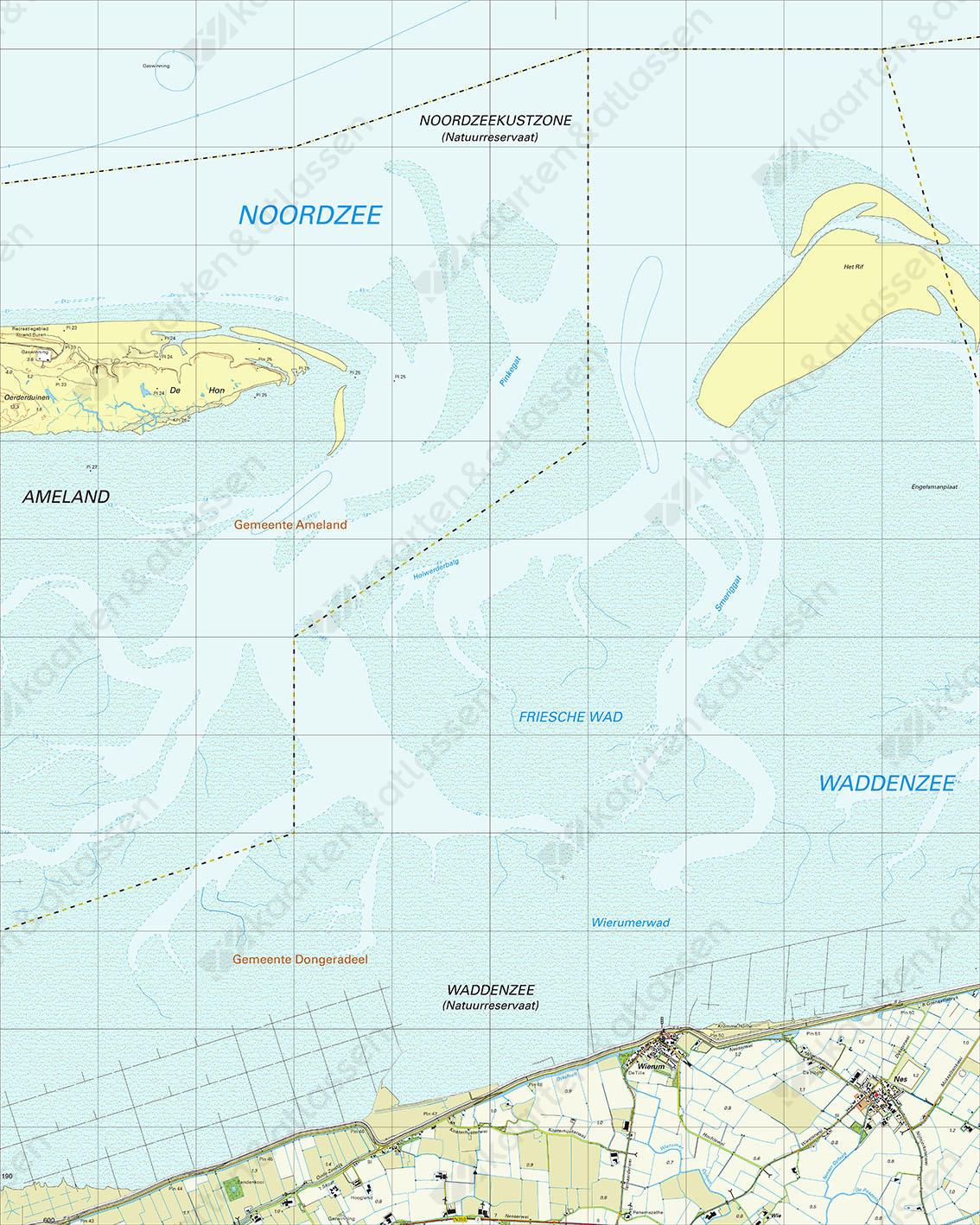 Topografische Kaart 2D Wierum