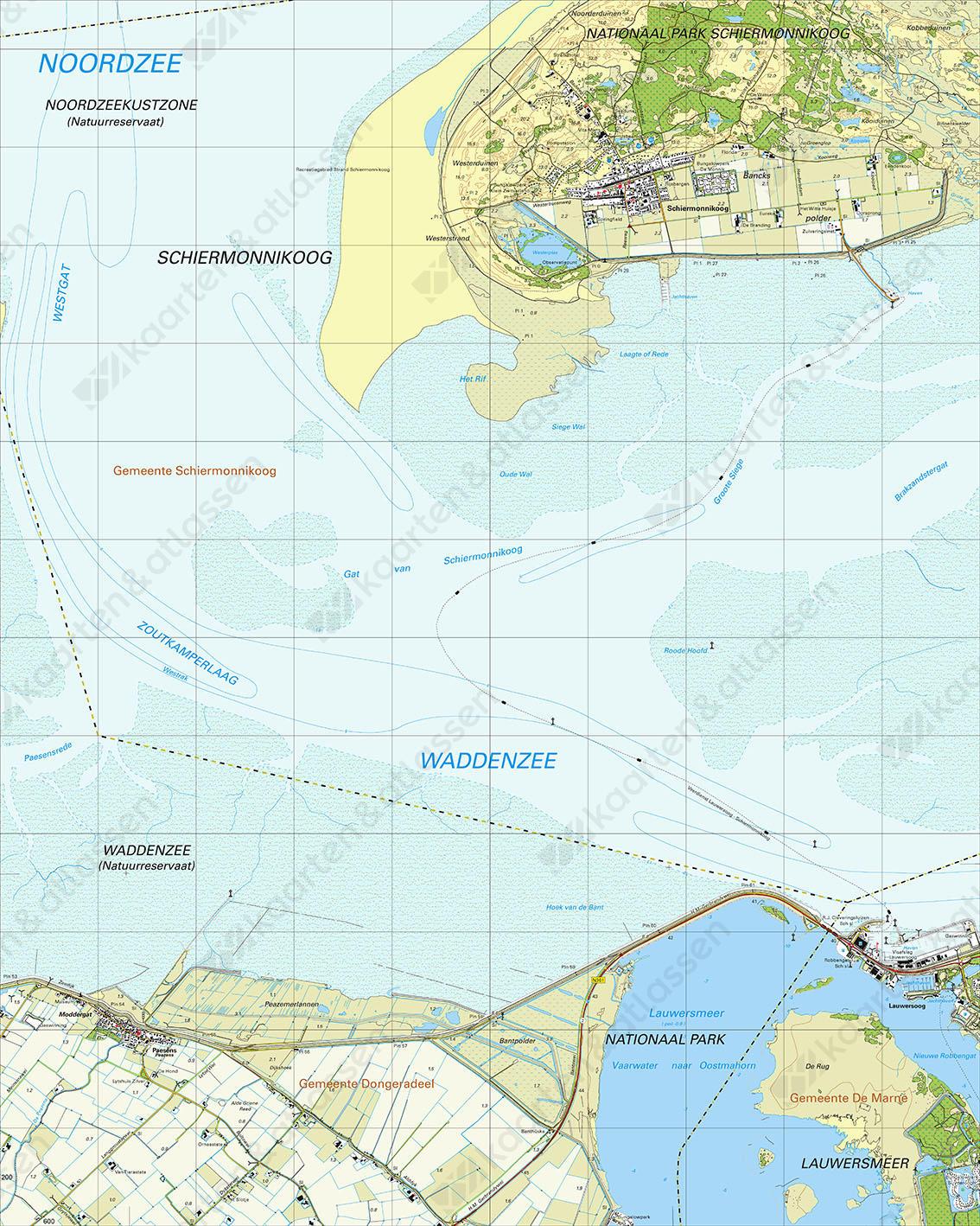 Topografische Kaart 2G Lauwersmeer