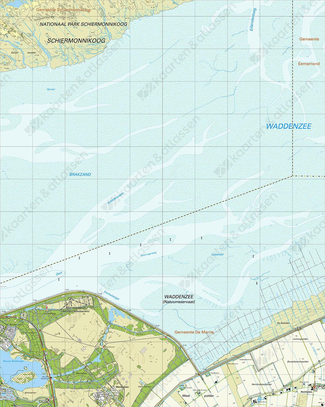Topografische Kaart 2H Oosterkwelder