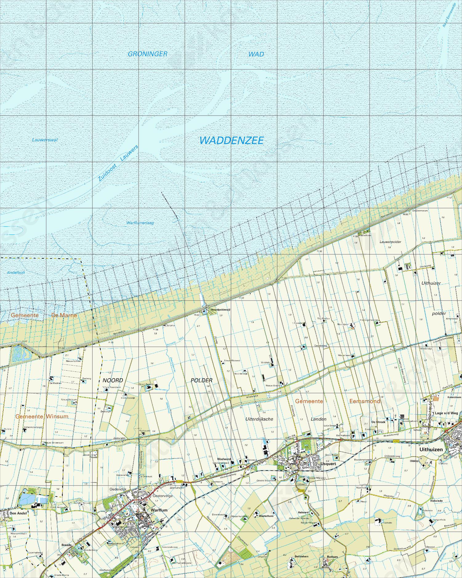 Topografische Kaart 3D Usquert